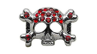"3/8"" Skull Slider Charm Black - Pet Charm - MORE COLORS AVAILABLE - InkedShop - 4"