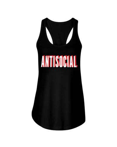 Women's Antisocial Tank by Dirty Shirty