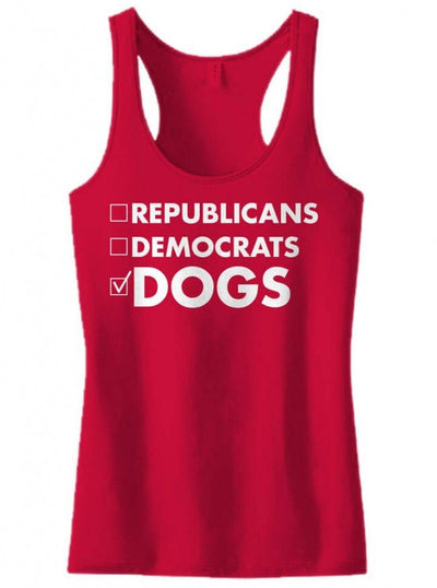 "Women's ""Vote Dogs"" Tank by Dpcted Apparel (More Colors Available) - www.inkedshop.com"