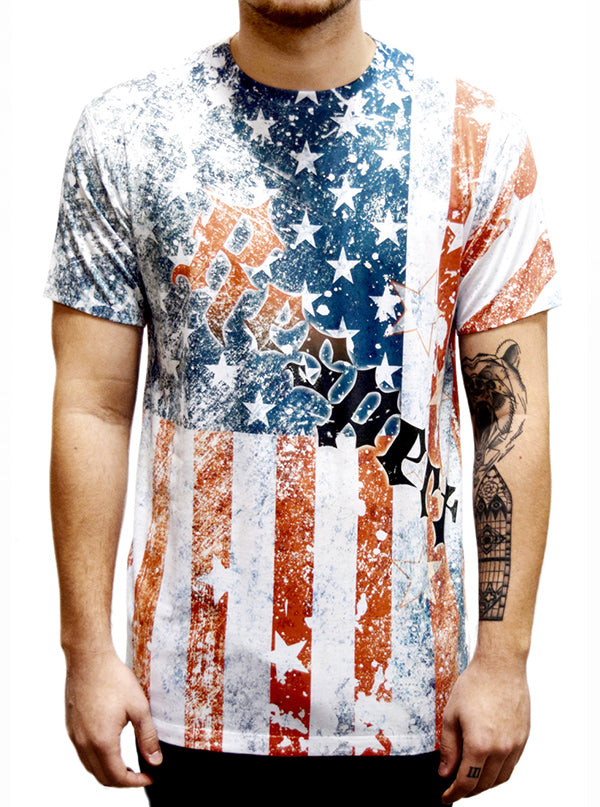 Men's Respect the Flag Tee by Liberty Wear