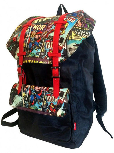 """Retro Comic"" Urban Backpack by Marvel (Red) - www.inkedshop.com"
