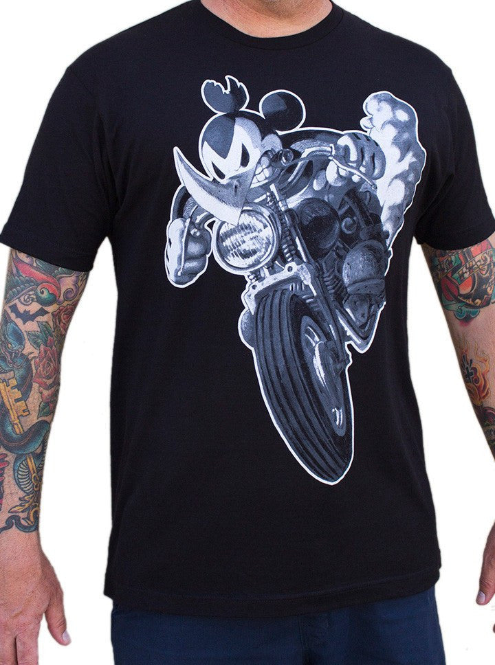 "Men's ""Ricky Rhino"" Tee by Lowbrow Art Company (Black) - www.inkedshop.com"