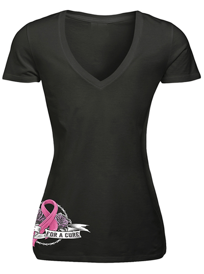 "Women's ""Ride For A Cure"" Tee by Lethal Angel (Black) - www.inkedshop.com"