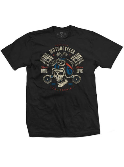 Men's Live to Ride Tee by 7th Revolution (Black)