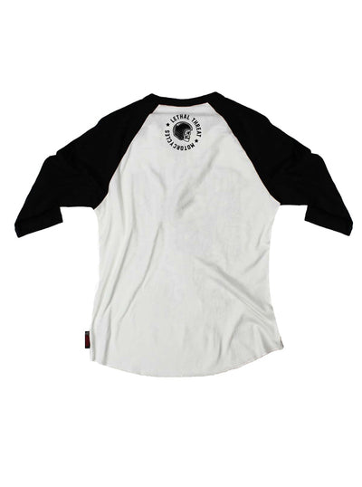 Men's Ride or Die Raglan Tee by Lethal Threat (White/Black)