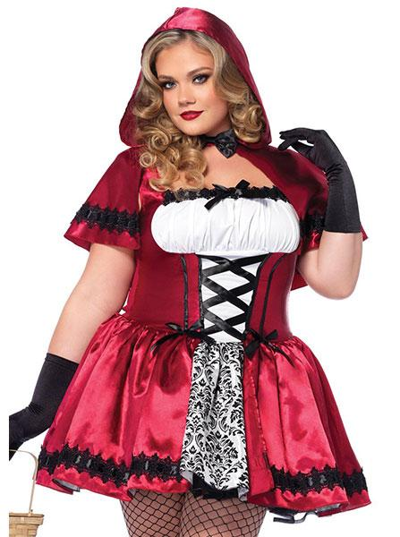 Women's Gothic Red Riding Hood Plus Size Costume by Leg Avenue