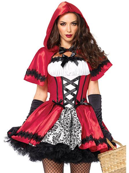 Women's Gothic Red Riding Hood Costume by Leg Avenue