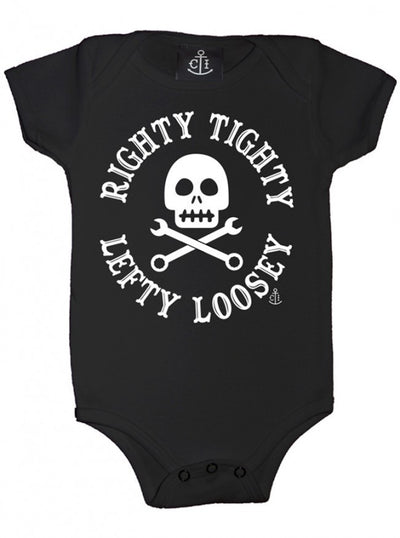 "Infant's ""Righty Tighty Lefty Loosey"" Onesie by Cartel Ink (More Options) - www.inkedshop.com"