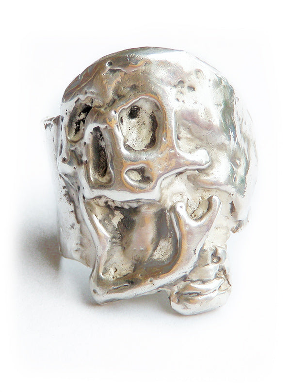 """Plague Skull"" Ring by Lugdun Artisans (Sterling Silver)"