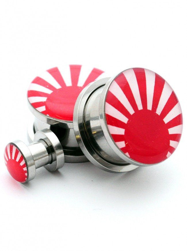 Rising Sun Plugs by Mystic Metals - www.inkedshop.com