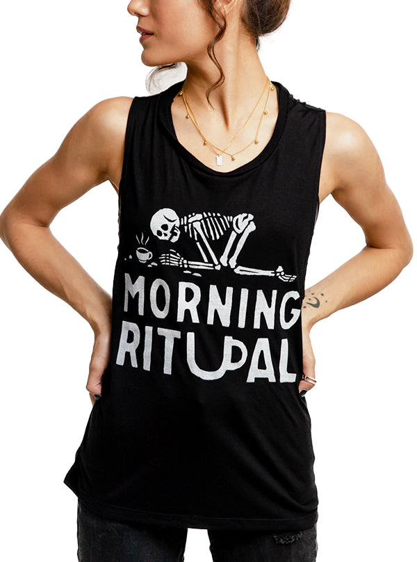 Women's Morning Ritual Muscle Tee by Pyknic