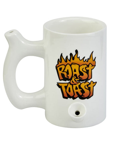 Roast & Toast Pipe Mug With Flames