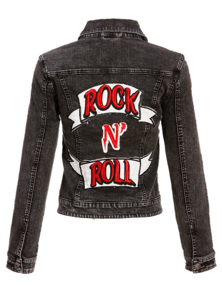 rock n roll jackets punk jean jacket inked shop. Black Bedroom Furniture Sets. Home Design Ideas