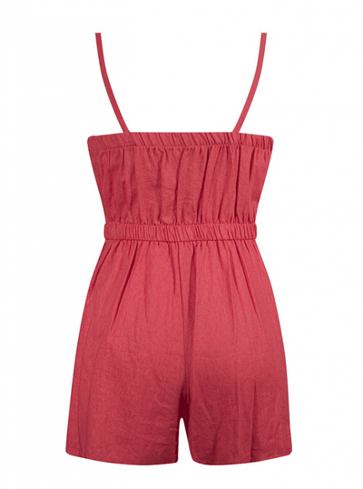 "Women's ""Retro Pinup"" Romper by Double Trouble Apparel (Coral) - www.inkedshop.com"