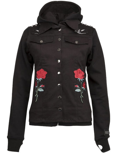 Women's Rose Studded Two-Piece Jacket by Pretty Attitude Clothing