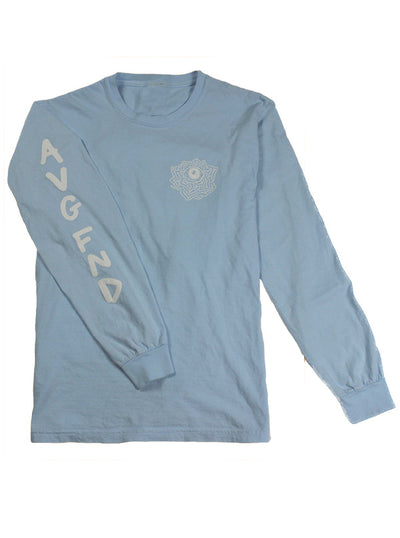 Men's Rosebud Long Sleeve Tee by Average Fiend (Chambray)