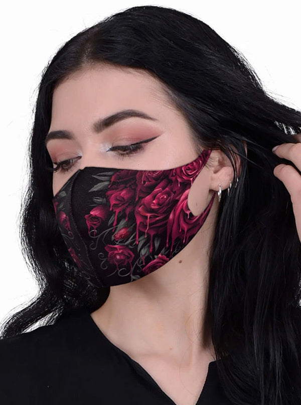 Blood Rose Protective Face Mask by Spiral Usa