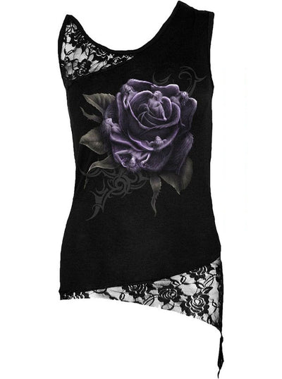 Women's Rose Angels Lace Top by Spiral USA