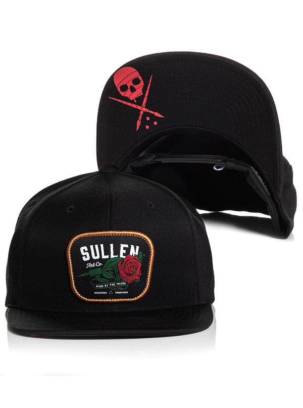 Red Rose Snapback Hat by Sullen