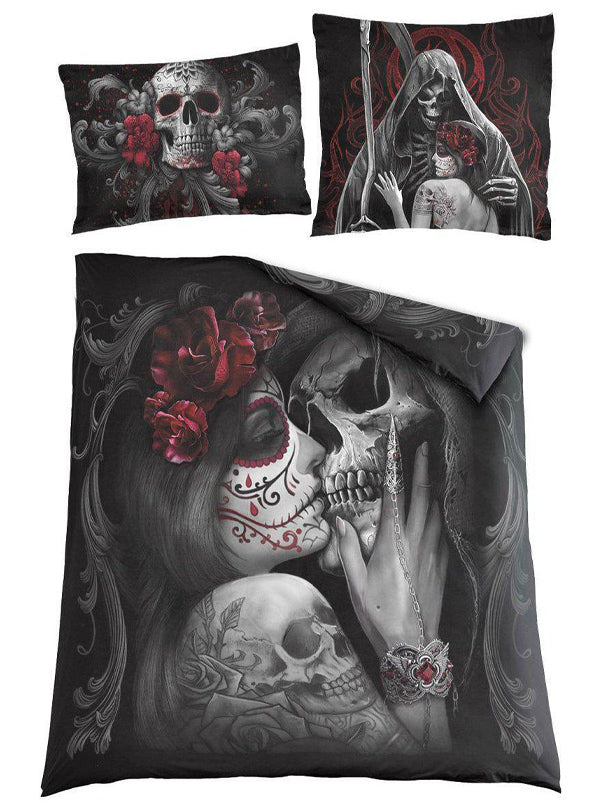 Skull Roses Duvet Cover Set by Spiral USA