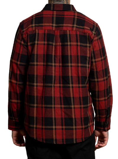 Men's Rosewood Flannel by Sullen