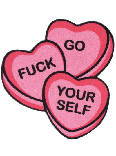 """Candy Hearts"" Rug by Sourpuss (Pink)"