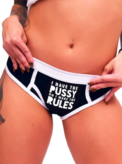 Women's I Make the Rules Boy Brief Underwear by Dirty Shirty