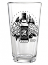"""Rum 2 Whiskey"" Pint Glass by Kustom Kreeps (Glass) - www.inkedshop.com"
