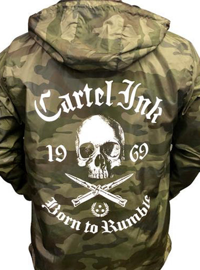 Men's Born To Rumble Wind Breaker by Cartel Ink