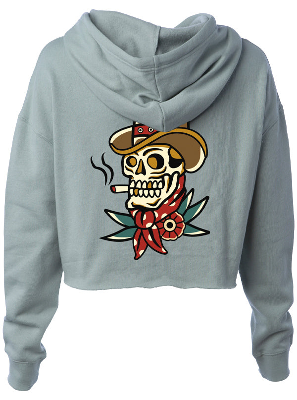 Women's Dead Or Alive Crop Hoodie by Ghost and Darkness
