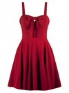 "Women's ""Sailor Girl"" Swing Dress by Double Trouble Apparel (Red) - www.inkedshop.com"