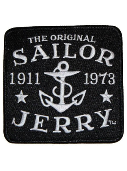 """Sailor Jerry Logo"" Patch by Sailor Jerry (Black) - www.inkedshop.com"