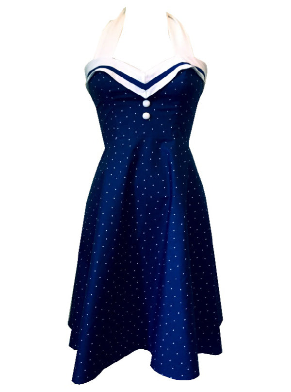Women's Sailor's Sweetheart Halter Dress by Bomb Girl