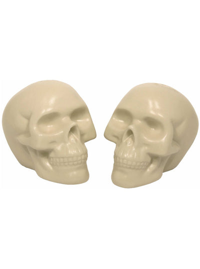 Porcelain Skull Salt & Pepper Set (White)