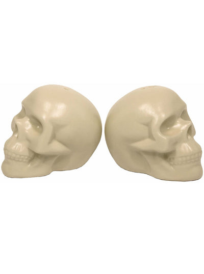"""Porcelain Skull"" Salt & Pepper Set (White)"