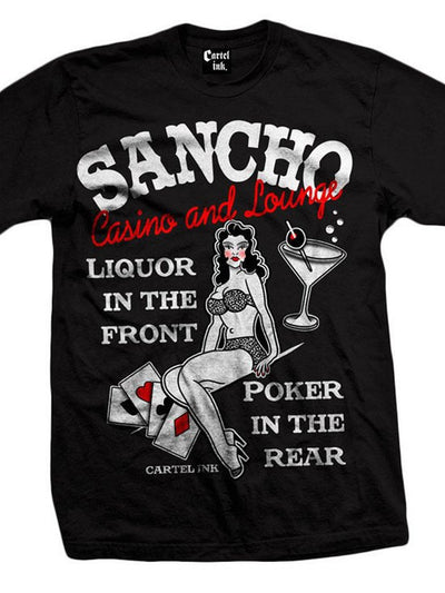 "Men's ""Sancho Casino and Lounge"" Tee by Cartel Ink (Black) - www.inkedshop.com"