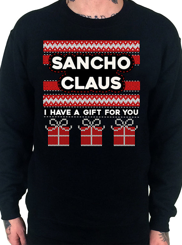 Men's Sancho Claus Ugly Christmas Sweatshirt by Cartel Ink