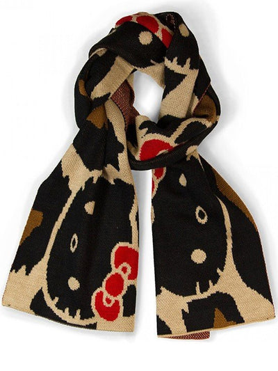 """Hello Kitty"" Scarf by Loungefly (Brown Leopard) - www.inkedshop.com"