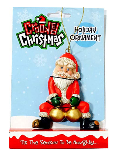 Bad Santa Holiday Ornament