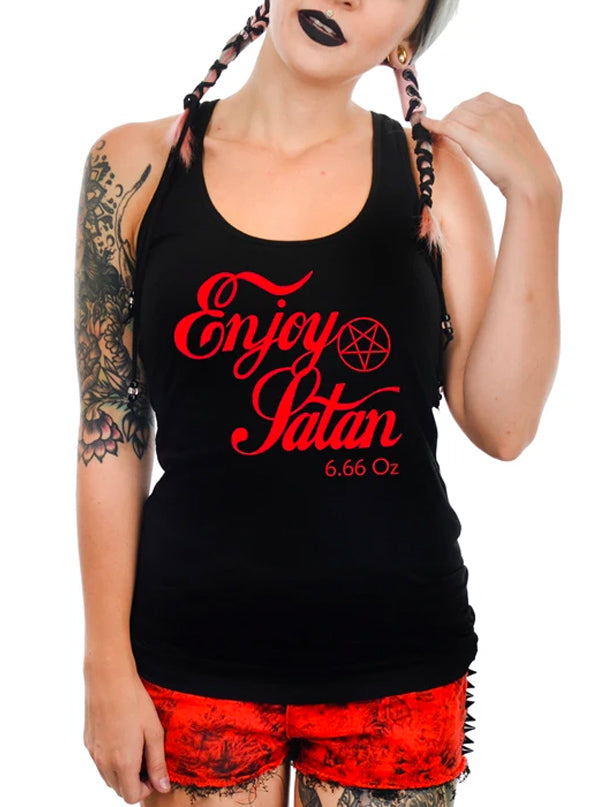 Women's Enjoy Satan Tank by Too Fast