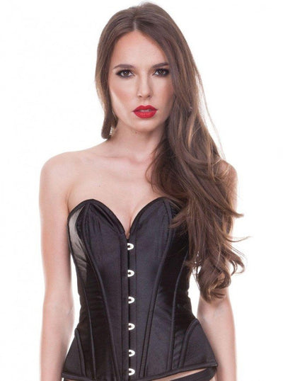 "Women's ""Heart Neckline"" Satin Corset by Bedroom Stories (More Options) - www.inkedshop.com"