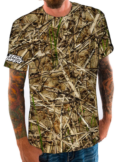 Men's Sawgrass Tee by Lethal Threat (Skull Camo)