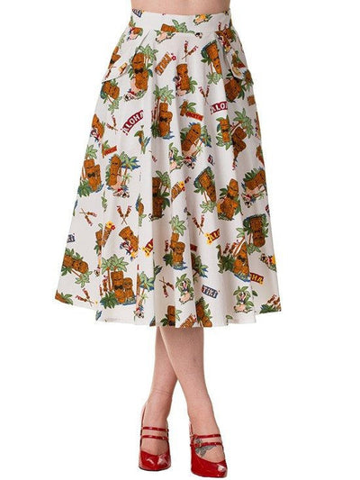 "Women's ""Dreamer"" Skirt by Banned Apparel (White) - www.inkedshop.com"