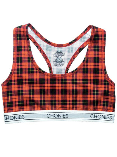"Women's ""School Girl"" Sports Bra by Chonies (Red)"