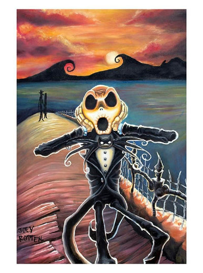 Jack Screams Print by Joey Rotten for Lowbrow Art Company