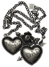 Mom and Dad Necklace by Kitsch 'n' Kouture - InkedShop - 1