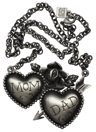 Mom and Dad Necklace by Kitsch 'n' Kouture - InkedShop - 2
