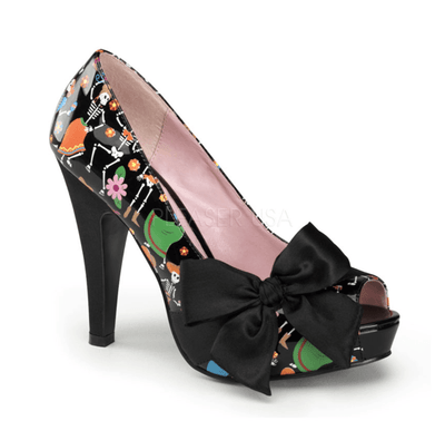"Muertos Print 4 1/2"" Heel by Pinup Couture - InkedShop - 1"