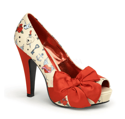 "Tattoo Print 4 1/2"" Heel by Pinup Couture - InkedShop - 1"