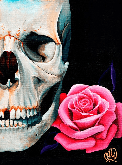 Rose Skull by Christina Ramos - InkedShop - 1